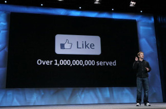 Facebook founder and CEO Mark Zuckerberg delivers the opening keynote address at the f8 Developer Conference April 21, 2010 in San Francisco, California.