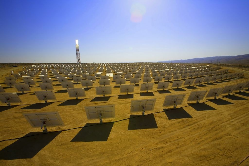 Solar panels in the Mojave Desert