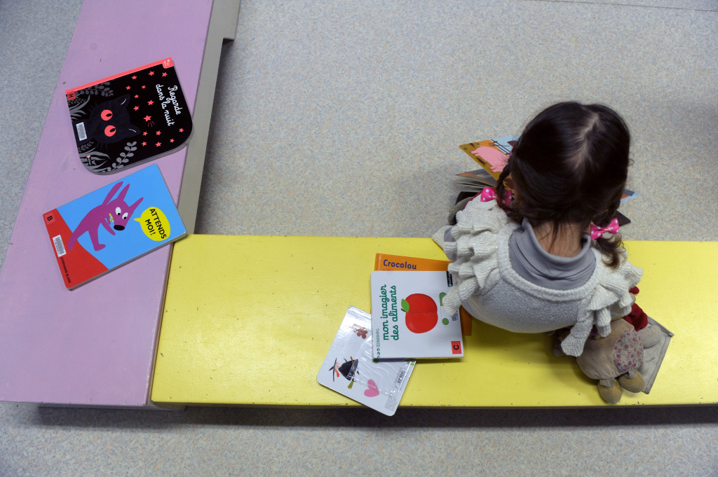 File photo: A new study says learning skills like good social interactions, attention, and self-control in kindergarten may be more important than academics for young children.