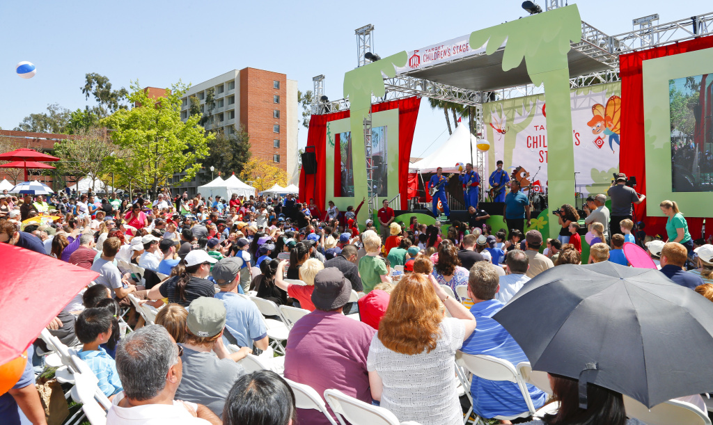 LOS ANGELES, CA - APRIL 21:  The Imagination Movers perform onstage at the 18th Annual LA Times Festival Of Books at USC on April 21, 2013 in Los Angeles, California.  (Photo by Imeh Akpanudosen/Getty Images for LA Times)