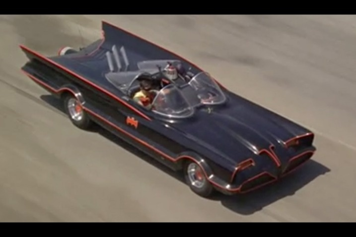 10. Batman 1955 Lincoln Futura Batmobile: George Barris' crew reworked and restyled an old Ford concept car into the great Batmobile for the campy 1966-'68 TV series. Turbines to speed.