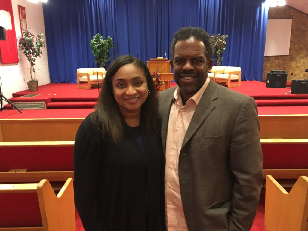 Thomas Alexander, Jr., right, is a cousin of Karen Elaine Smith, the teacher killed at North Park Elementary School in San Bernardino on Mon., April 10, 2017. Jessica Alexander, left, is Tom's wife and the senior pastor at Grace Chapel of San Bernardino, where Smith served as worship director in 2012 and 2013.