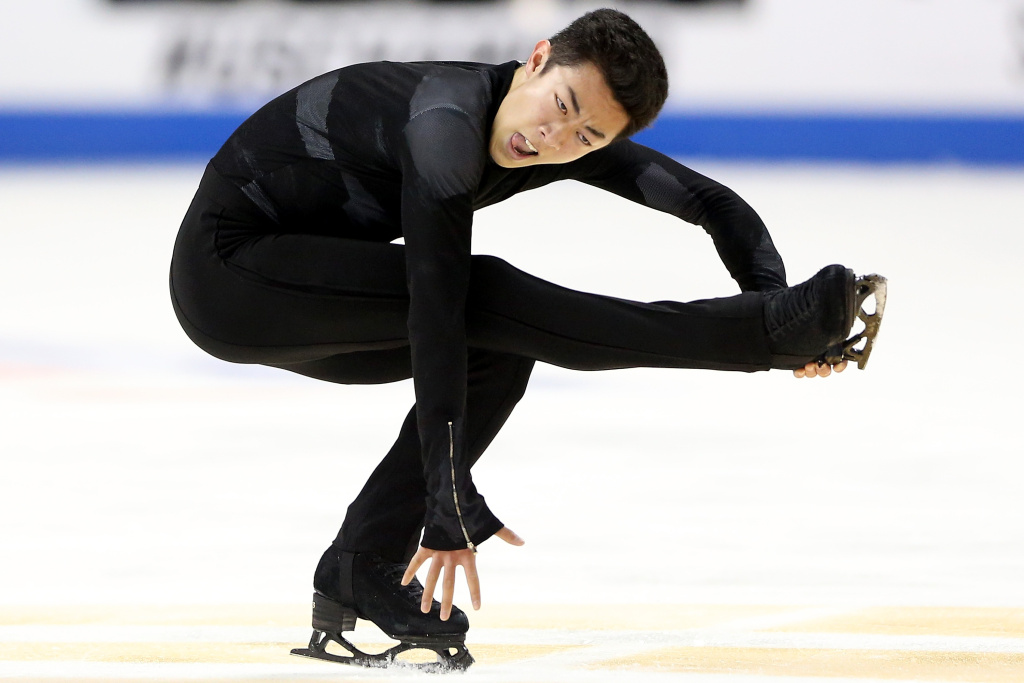 Nathan Chen competes in the Men's Free Skate during the 2018 Prudential U.S. Figure Skating Championships at the SAP Center on January 6, 2018 in San Jose, California.