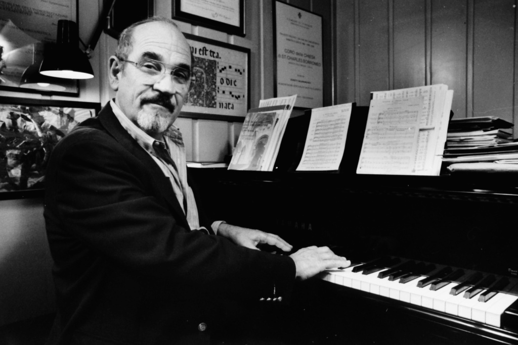 This photo provided by courtesy of Los Angeles Master Chorale shows Music Director Emeritus of the Los Angeles Master Chorale, Paul Salamunovich, at the piano in Los Angeles. The chorale's publicist, Libby Huebner, says the Grammy-nominated conductor died Thursday, April 3, 2014, of complications related to West Nile virus. He was 86.