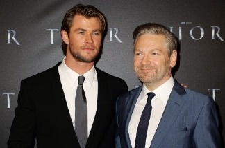 Chris Hemsworth and Kenneth Branagh arrive at the World Premiere of 'Thor' at Event Cinemas on April 17, 2011 in Sydney, Australia.