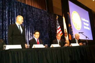 California Governor-elect Jerry Brown begins budget briefing on future education spending at UCLA on Dec. 14, 2010. A spokesman says Brown is putting concrete numbers to the severity of public schools cuts to come.