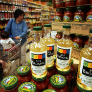 The Wholefoods grocery chain is still very profitable, but Wall Street analysts are worried about rival chains encroaching on their traditional turf.