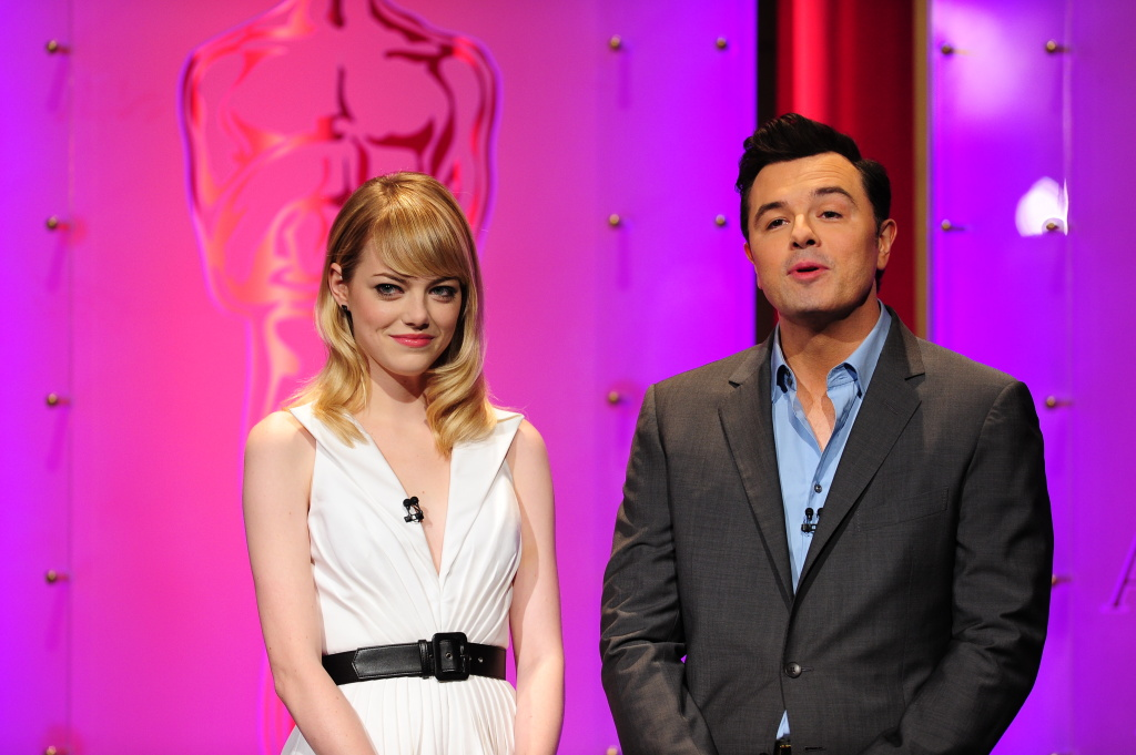 The Oscar nominees are announced by Seth MacFarlane and Emma Stone at the Samuel Goldwyn Theater on January 10, 2013 in Beverly Hills, California. The 85th Academy Awards will be held on February 24.