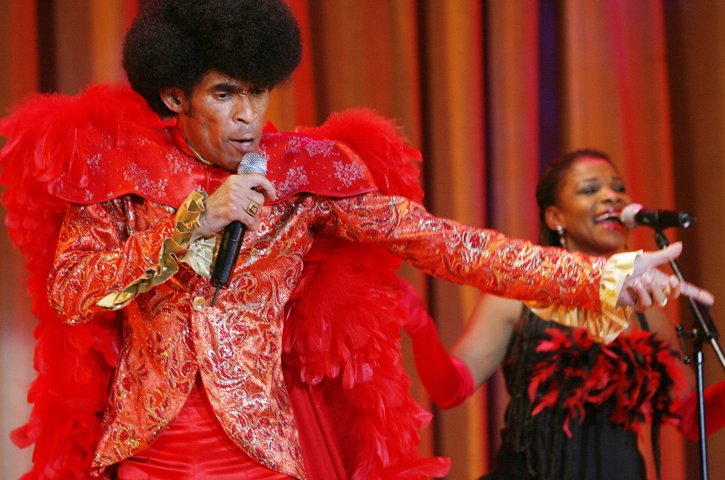 1970s disco icon Bobby Farrell, singer and dancer with the chart-topping group Boney M, performs in Moscow on December 23, 2009. He died in 2010.