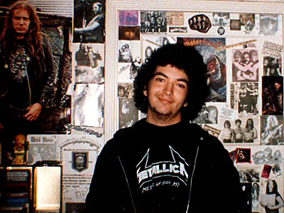 KPCC's Inland Empire reporter Steven Cuevas, circa 1983.
