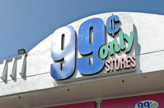 A 99 Cents Only store in Los Angeles on September 9, 2009