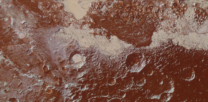 Pluto from NASA's New Horizons spacecraft illustrates the incredible diversity of surface reflectivities and geological landforms on the dwarf planet.