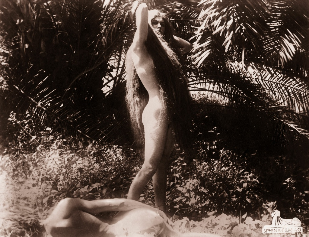 A nude scene from an unknown religious film, circa 1925.