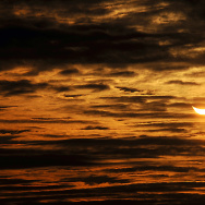 A picture taken on January 04, 2011 in Locon, northern France, shows the world's first partial solar eclipse of 2011.