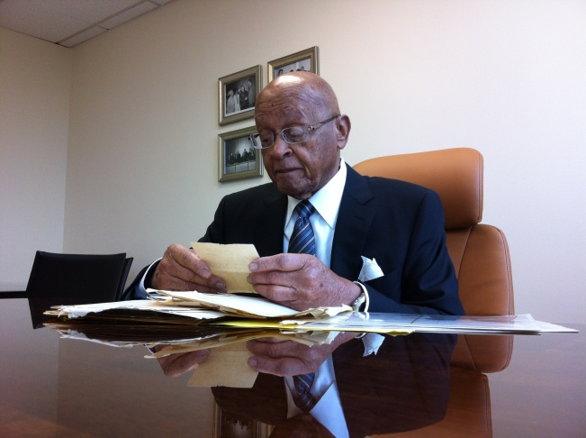 92-year old Judge James Reese in his law office, December 12, 2011.