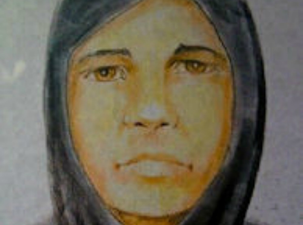 A police sketch of the suspected gunman from 2011.
