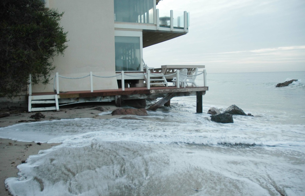 A 2012 photo of the king tides in Malibu.
