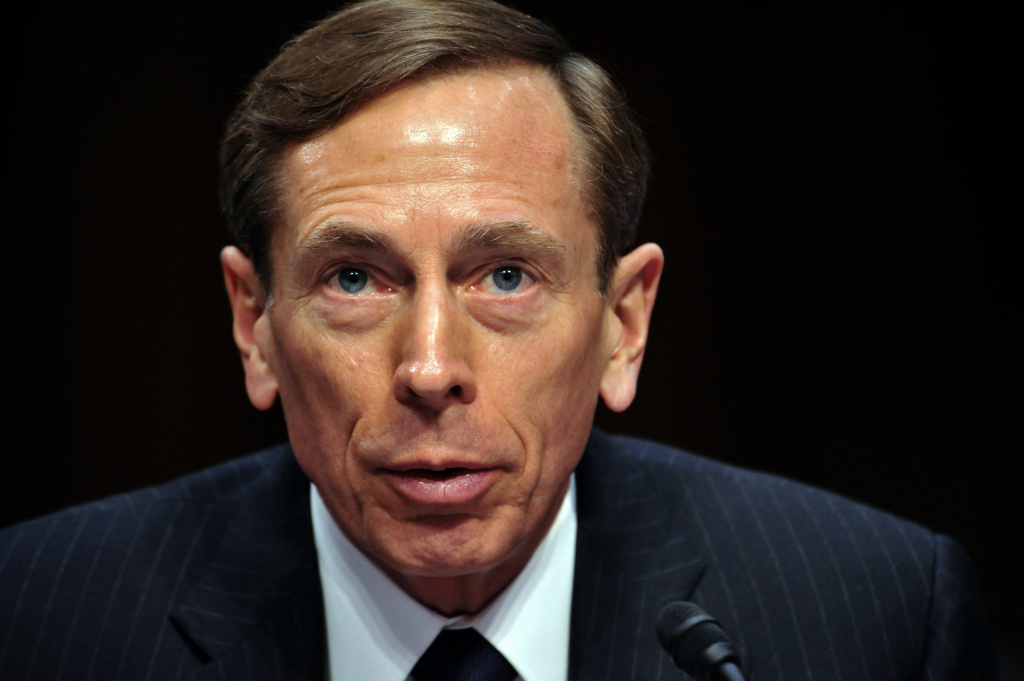 CIA Director David Petraeus, testifies before the US Senate Intelligence Committee during a full committee hearing on