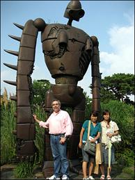 A statue in Ghibli Museum Park in Tokyo, Japan.