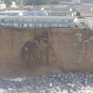 El Niño's effect has been a bit less positive along the coastline. Powerful waves and heavy rains triggered significant erosion of the coastal bluffs in the northern town of Pacifica.