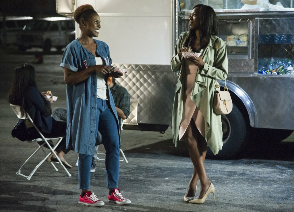 Issa Rae and Yvonne Orji in