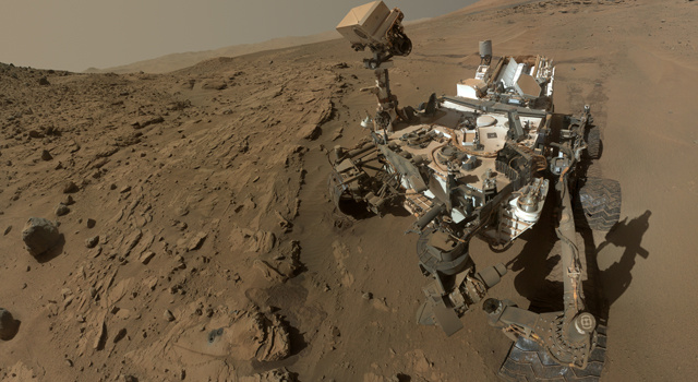 NASA's Mars Curiosity Rover captures a selfie to mark a full Martian year -- 687 Earth days -- spent exploring the Red Planet.