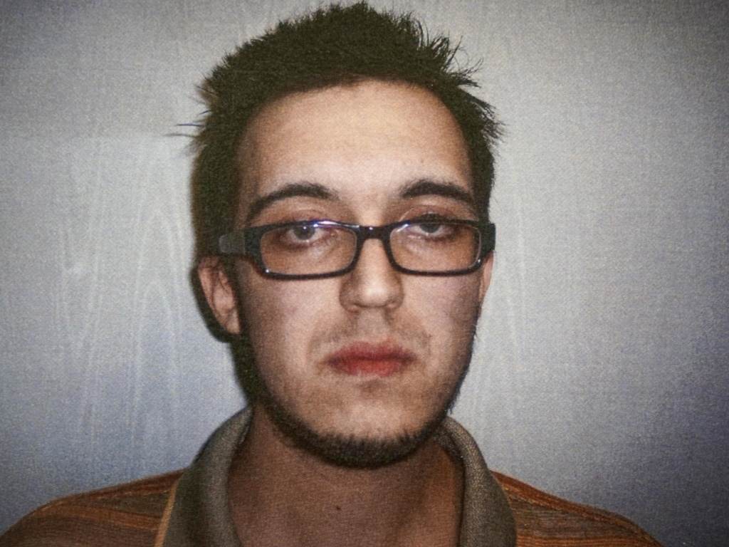 Alexander Ciccolo, seen in a 2014  booking photo, was sentenced on Wednesday to 20 years imprisonment and a lifetime of supervised release for plotting a terrorist attack in the United States.