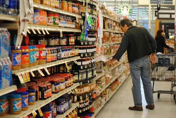 Choosing among the dozens of brands in the bread, peanut butter and jam aisle, February 2010