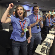 NASA's Jet Propulsion Lab Holds Viewing Of Mars Curiosity Rover Landing