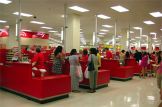 Cash registers at a Target store