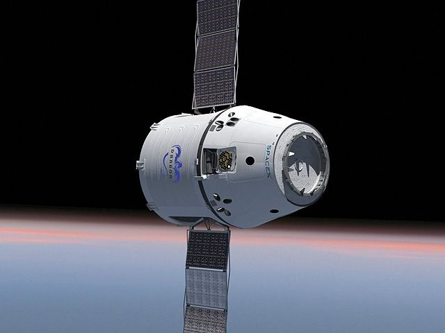 The Dragon capsule, developed and built by Hawthorne-based SpaceX. On Saturday, it will be launched in the first-ever private mission to service the International Space Station.
