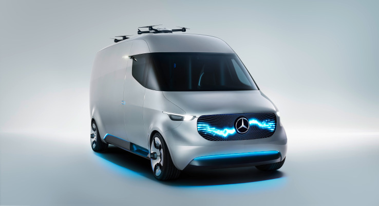 Mercedes-Benz is partnering with a drone company that can deliver packages to their final destinations from all-electric vans.