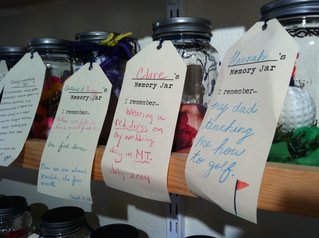 Some of the memory jars created by visitors to the Santa Cruz Museum of Art & History.