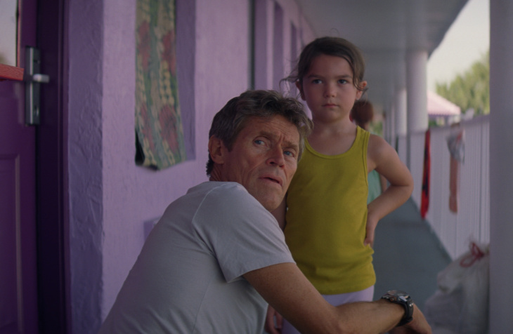 Willem Dafoe and Brooklynn Prince in