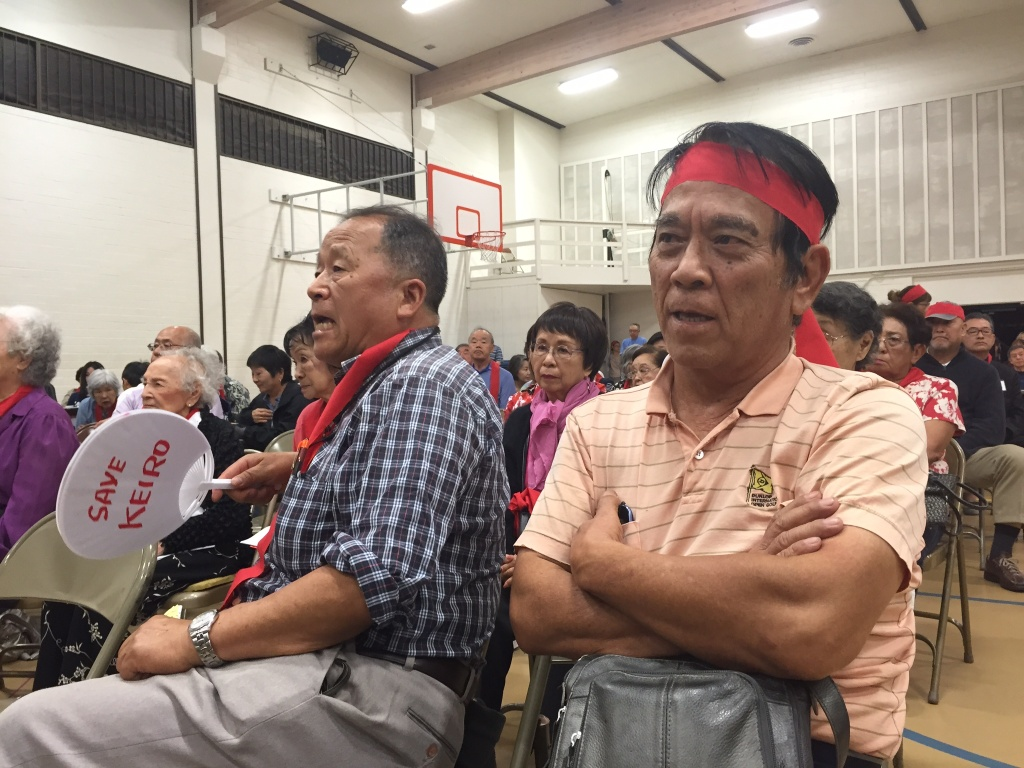 FILE: Seniors turned out last October to protest the sale of a group of Los Angeles retirement and nursing homes that serve older Japanese Americans. According to a new report released Wednesday, many Asian Americans over 50 face poverty, language barriers, limited access to health services and housing challenges.