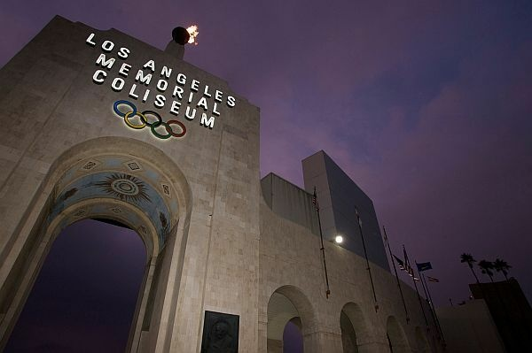 This Feb. 13,2008 file photo shows the Los Angeles Memorial Coliseum in Los Angeles.