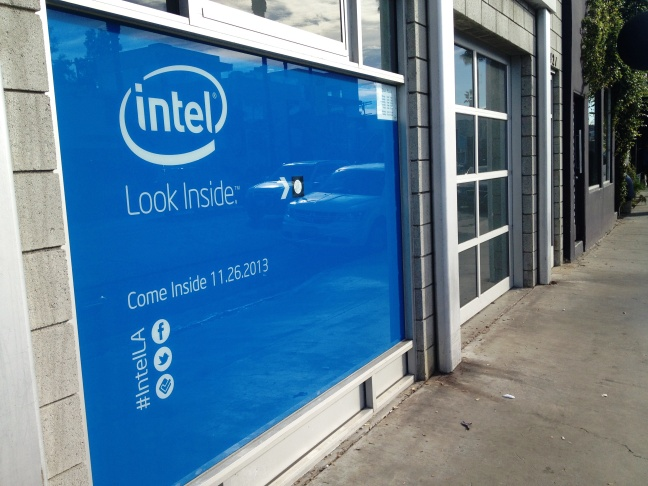 Intel's new pop-up store - also known as an 'experience store' - on Abbott Kinney Blvd. in Venice.