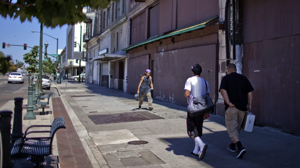 Some of the many boarded up store fronts along Weber Street in Stockton, Calif., in 2012. The Stockton City Council voted to declare bankruptcy last year, making it the largest city in U.S. history to enter Chapter 9 to that time.