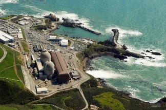 An aerial view of the Diablo Canyon Nuclear Power Plant - which sits on the edge of the Pacific Ocean at Avila Beach in San Luis Obispo County, California on March 17, 2011.