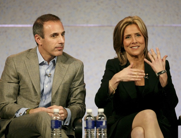Co-Anchors for 'Today' Matt Lauer and Meredith Vieira speak during the 2007 Winter Television Critics Association Press Tour for NBC at the Ritz-Carlton Huntington Hotel on January 17, 2007 in Pasadena, California.