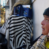 Martha Castro lives on the streets in Los Angeles' Skid Row neighborhood. She's still resistant to the idea that she can now get health coverage because of California's expansion of Medicaid.