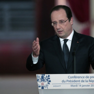 French President Francois Hollande Gives A Press Conference  At Elysee Palace