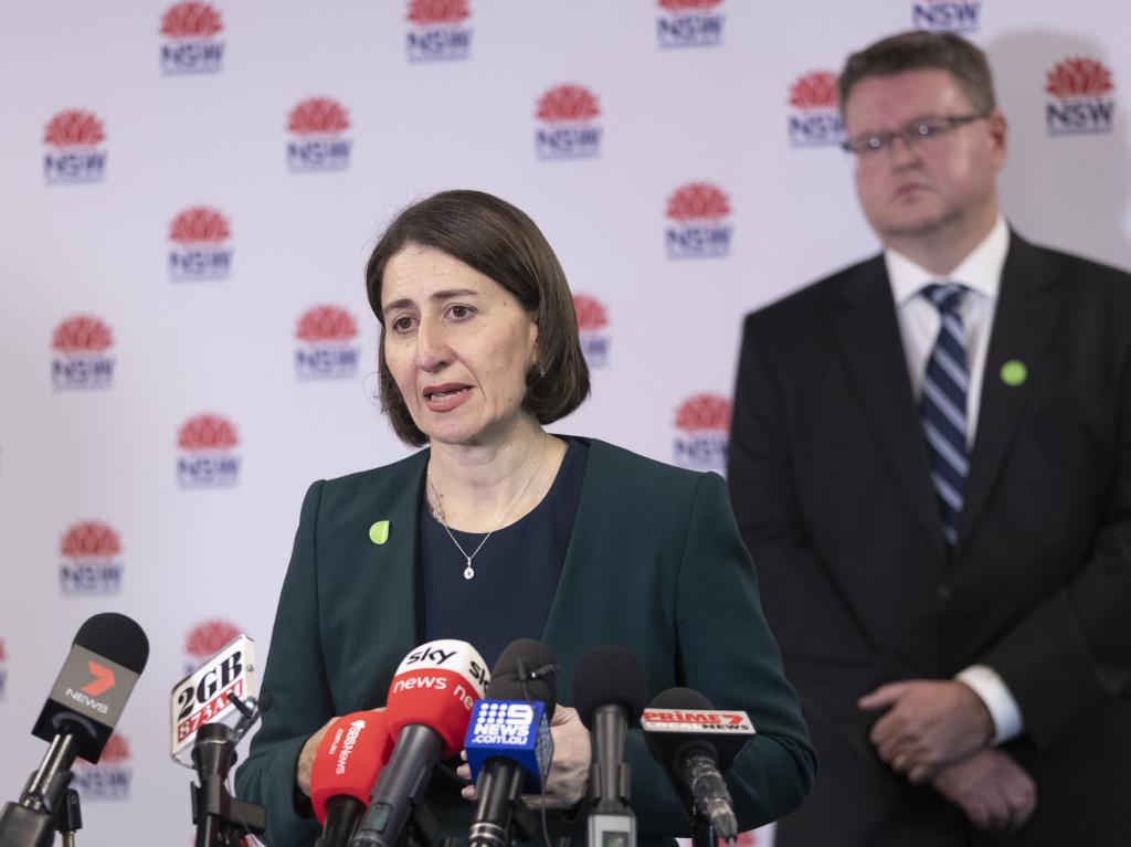 New South Wales Premier Gladys Berejiklian speaks at a news conference in Sydney earlier this week.