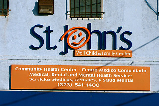 St. John's Well Child and Family Center in South Los Angeles is one of 11 L.A.-area health clinics that won federal grants to improve mental health services.