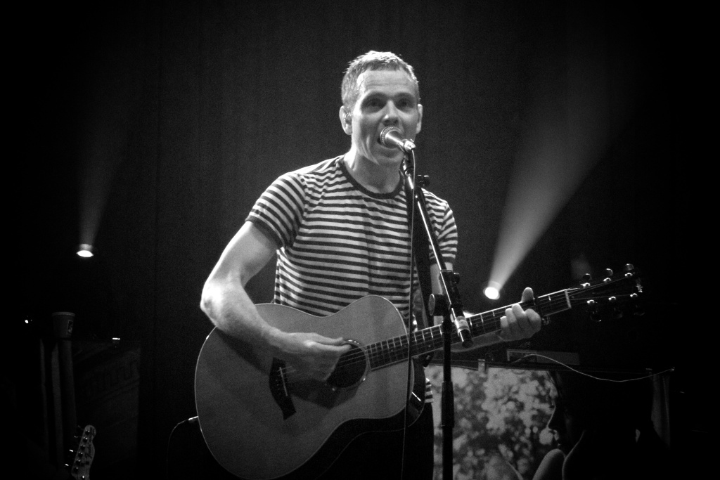 Belle & Sebastian's Stuart Murdoch performing at Roundhouse in London on May 2011.