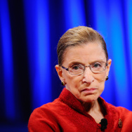 Justice Ruth Bader Ginsburg attends former California first lady Maria Shriver's annual Women's Conference at the Long Beach Convention Center.