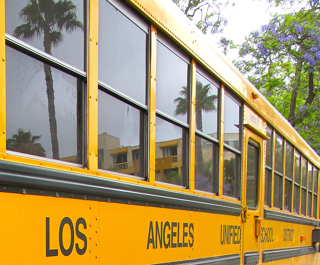An LAUSD school bus