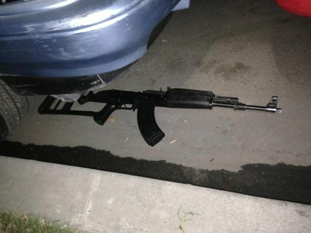 The AK-47 assault weapon like the one used to fire at Los Angeles County sheriff's deputies during a car chase on January 8, 2013.