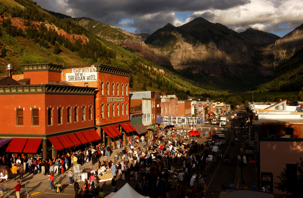 The Colorado town of Telluride usually has a population of about 2,300, but it grows considerably for its annual film festival.