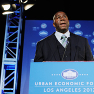 Government And Business Leaders Speak At Urban Economic Forum In Los Angeles